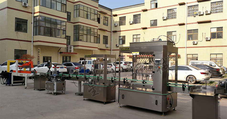 南京星火厂房展示液体灌装线设备