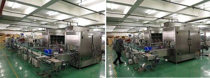 南京星火全自动洗洁精灌装线设备厂家自动化洗洁精灌装线设备车间展示