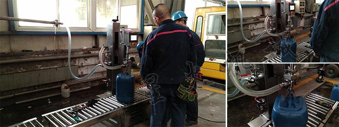 南京星火大桶自动灌装线设备相关客户案例实拍