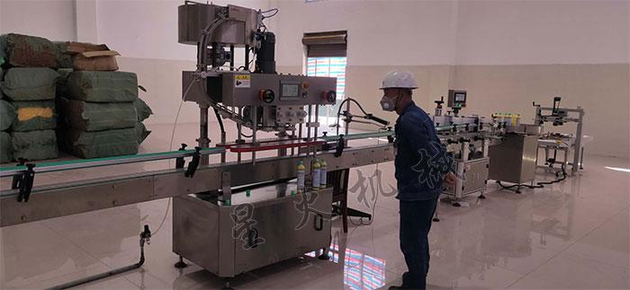 南京星火全自动生物试剂灌装旋盖设备相关客户案例