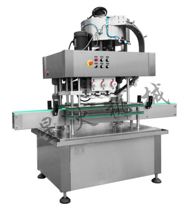 全自动直列式旋盖机(震荡式落盖)-酱料玻璃瓶旋盖机